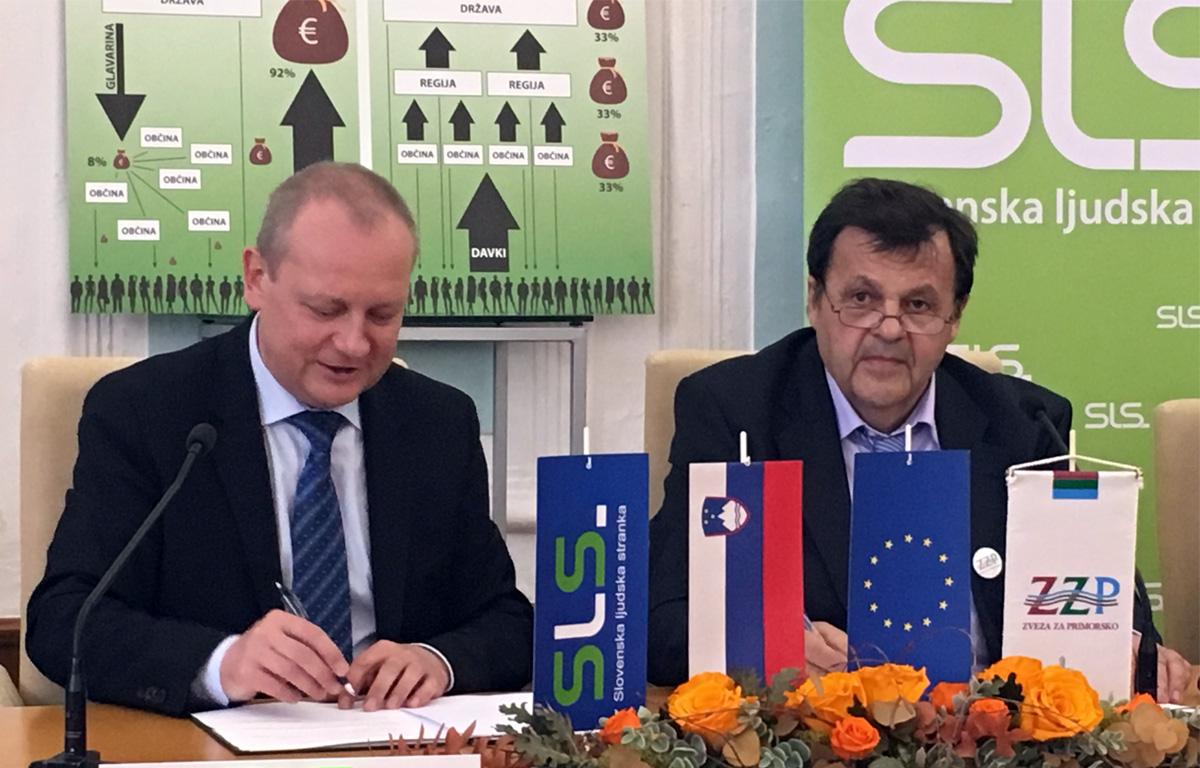 Povezovanje na sredini: Zveza za Primorsko na listo Slovenske ljudske stranke