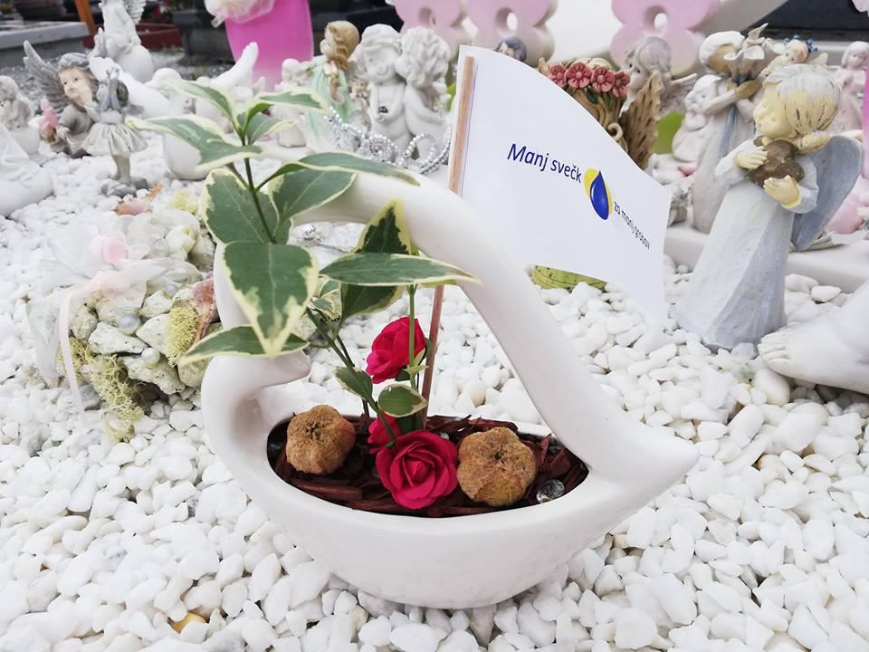 Manj svečk za manj grobov v Zagorju za negovanje tetrapleginje Alenke Mikuš