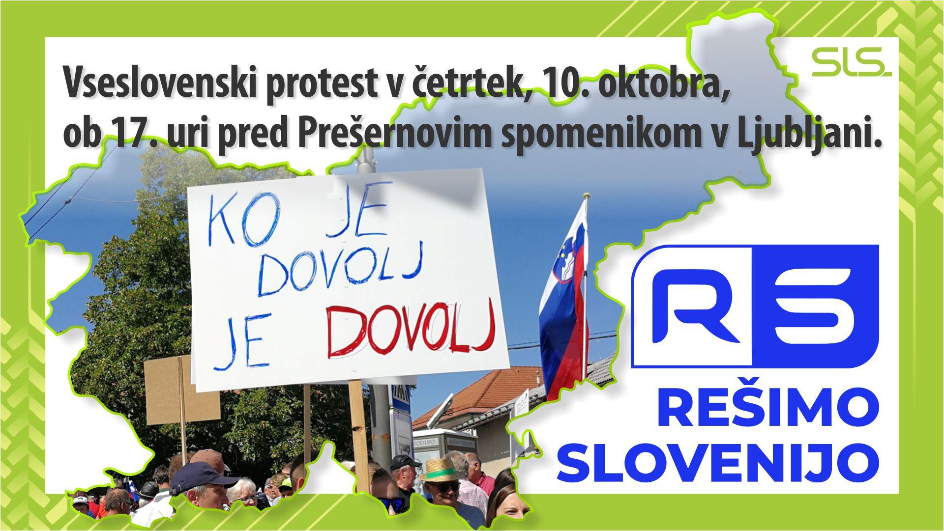 Objavljamo zahteve protestnega shoda Rešimo Slovenijo!