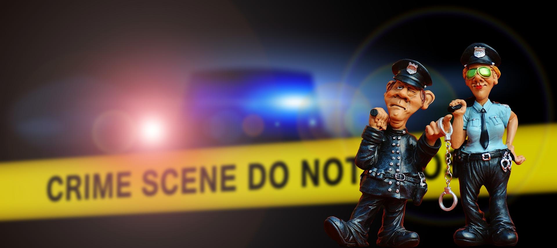 Šala dneva: Policista na krajo nesreče