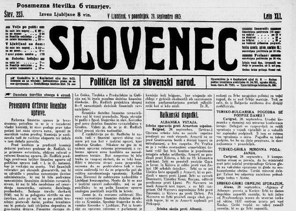 Časopis Slovenec že od leta 1873
