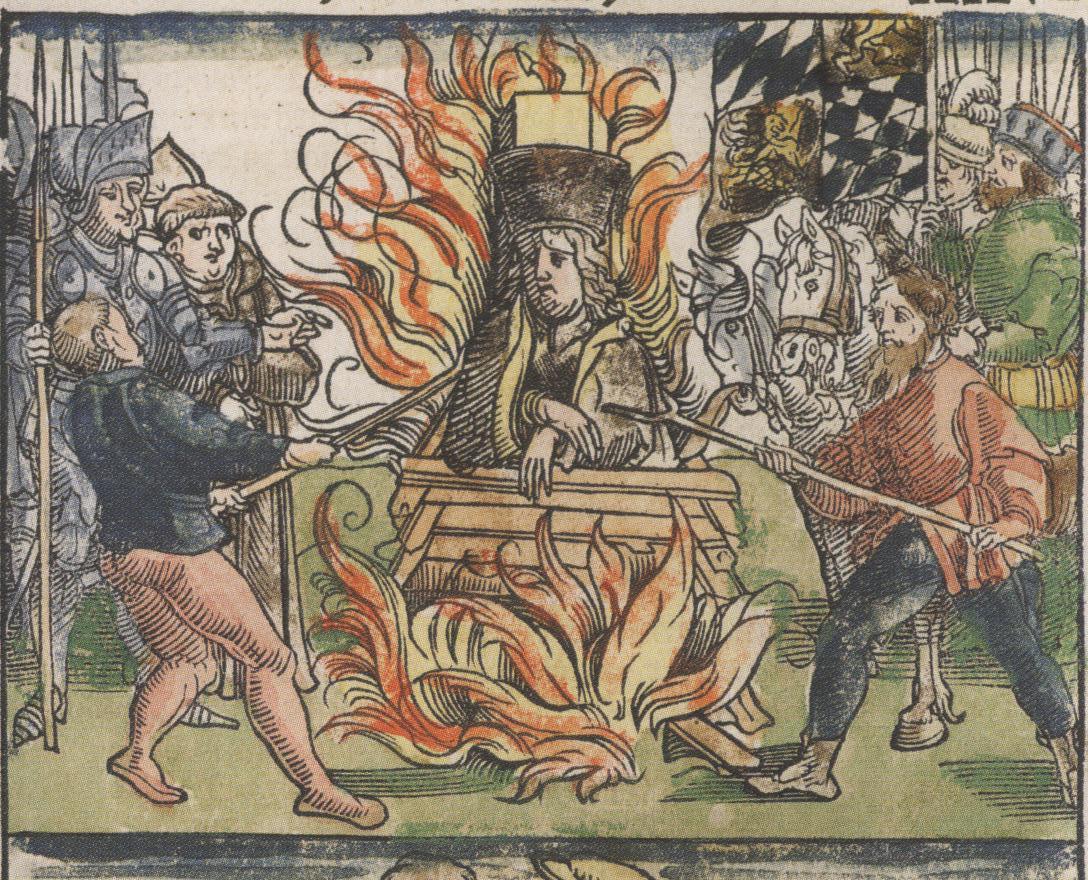 Češki reformator Jan Hus je prejel smrtno kazen zaradi krivoverstva.