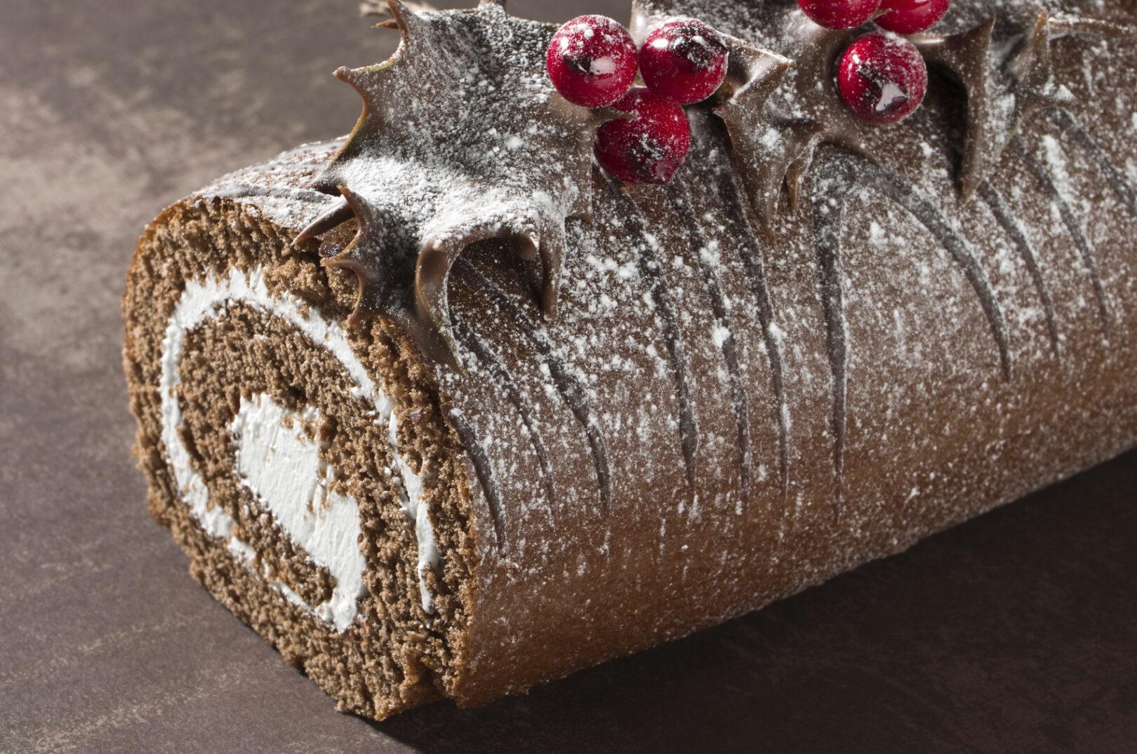 Božična rulada.