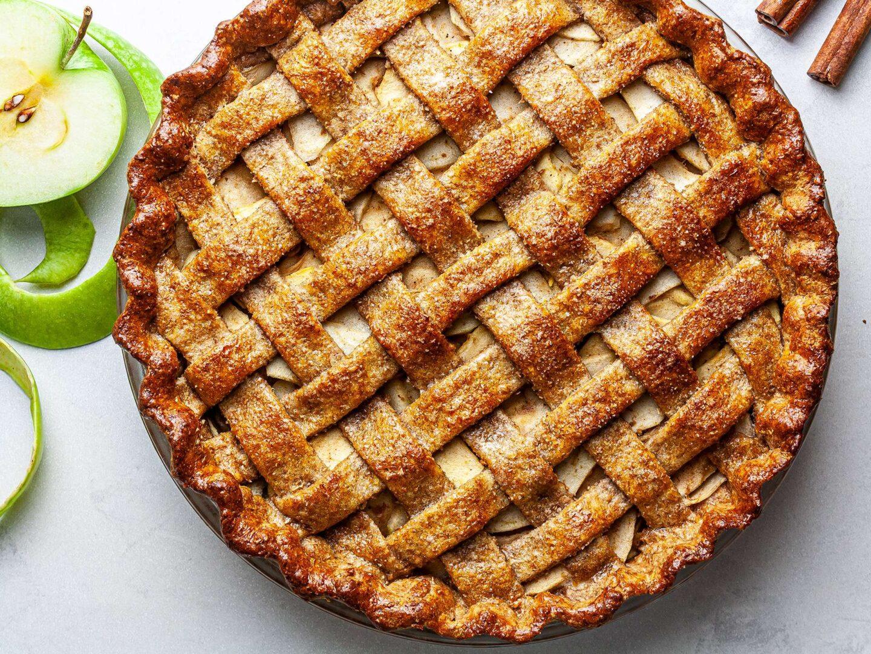 Veganska jabolčna pita.