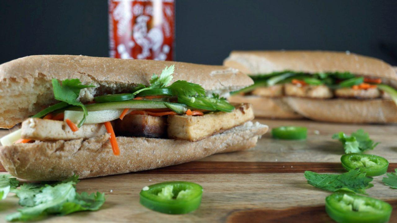 Veganski sendvič.