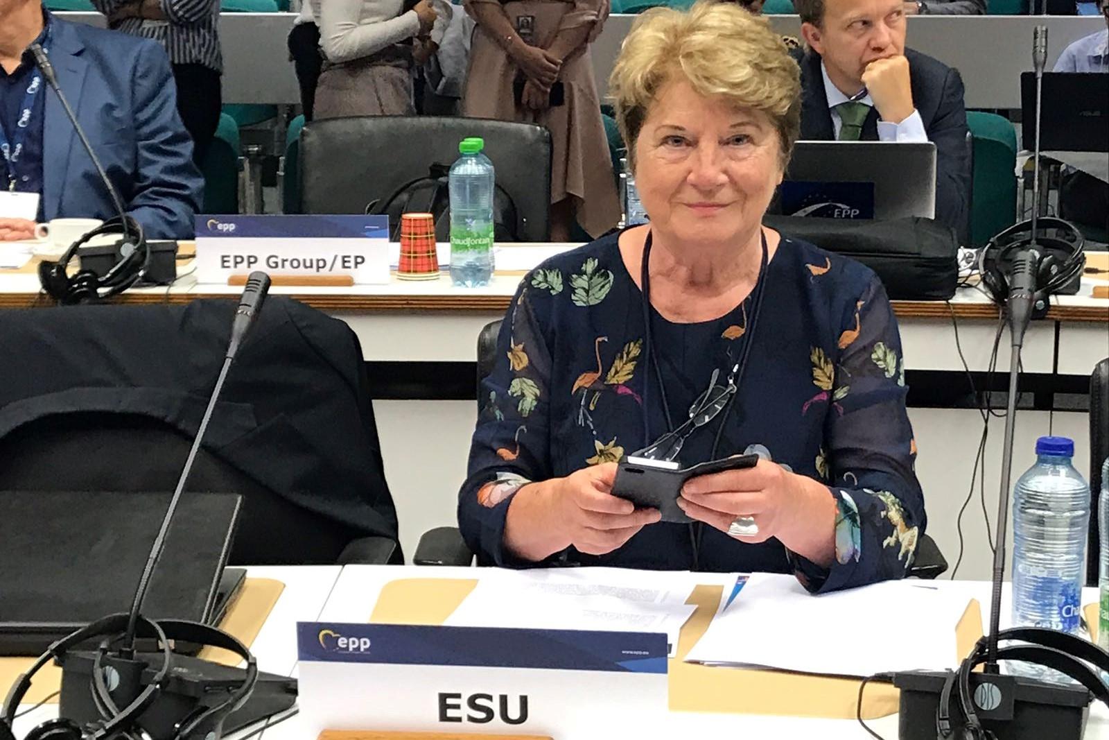 An Hermans, predsednica zveze upokojencev (European Seniors' Union – ESU). Vir slike: Facebook stran An Hermans.