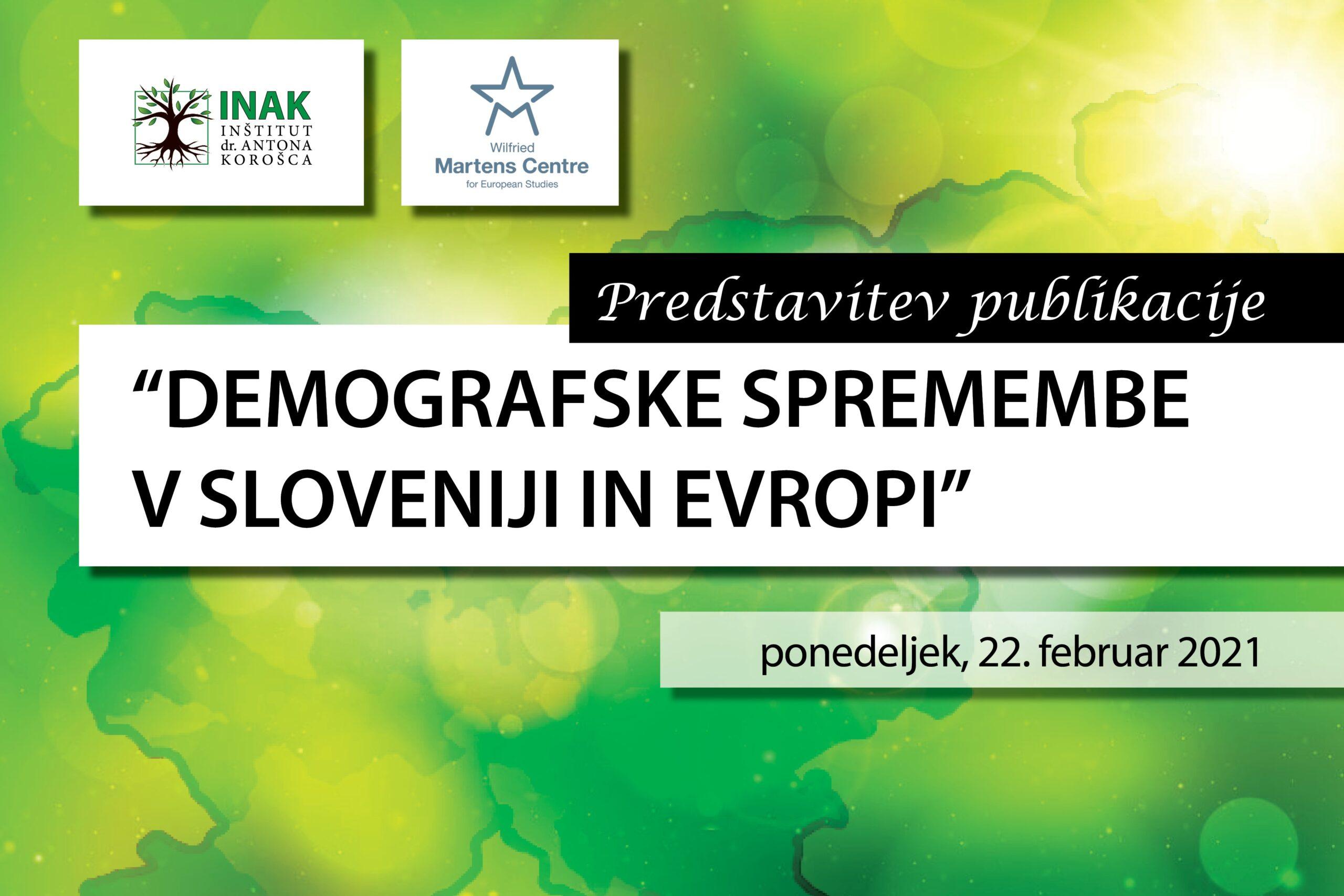 Predstavitev zbornika Demografske spremembe v Sloveniji in Evropi