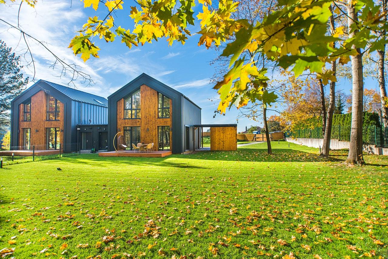 Estetska in okolju prijazna lesena hiša.