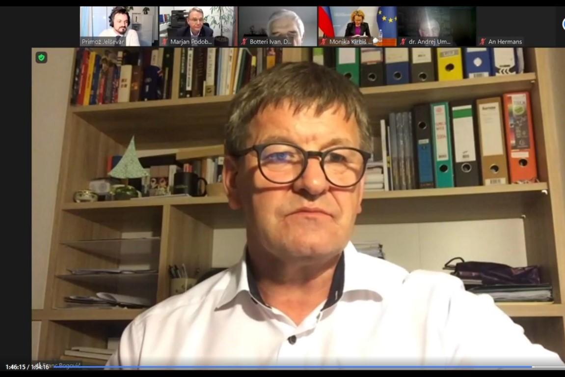 Franc Bogovič, evropski poslanec SLS/EPP. Vir slike: Posnetek zaslona INAK.