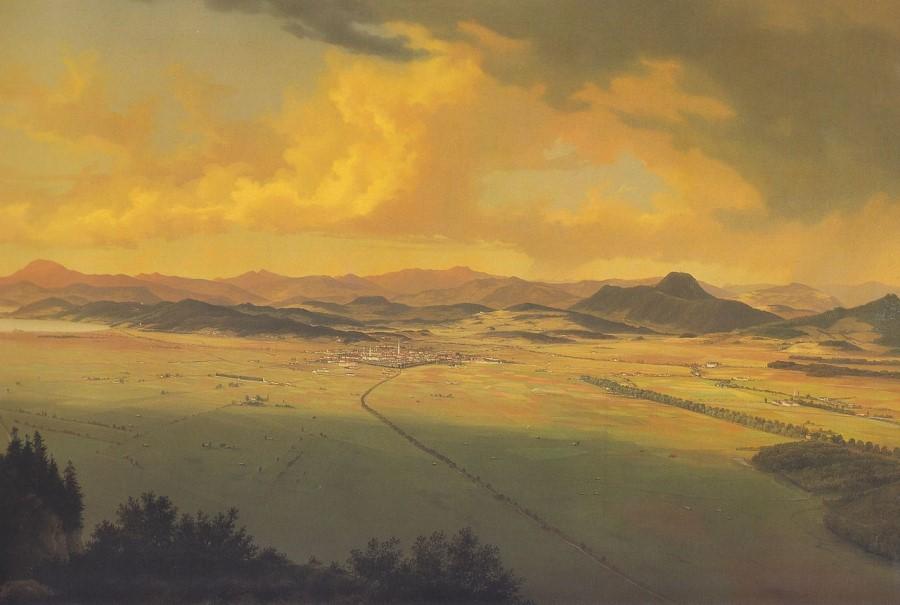 Slikar Marko Pernhart je naslikal močvirno Celovško polje.