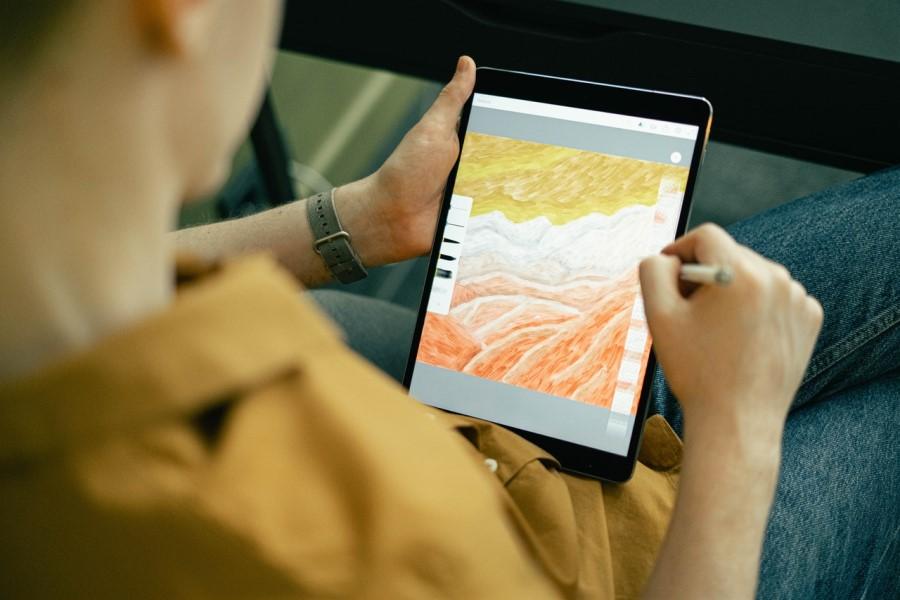Digitalna umetnost je ustvarjena s programsko opremo.