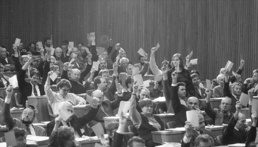 Nasprotovanje slovenski vojski je opozicija izražala z idejami o demilitarizaciji.  Na koncu je slovenska skupščina (parlament) spremembo zakona sprejela, tako da slovenski naborniki niso več odhajali na služenje v JLA.