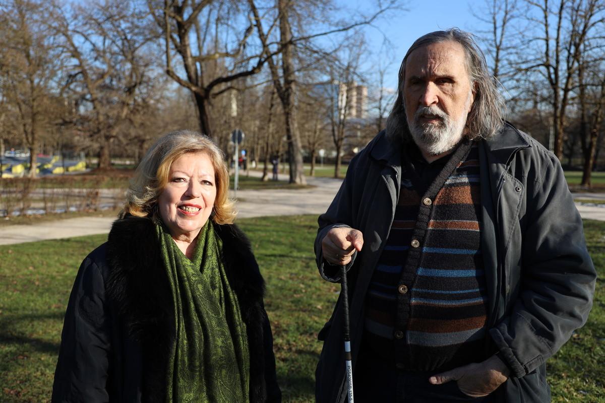Dr. Luj Šprohar in dr. Nada Pavšer, koordinatorka gibanja Povežimo Slovenijo. Vir slike: PoS.