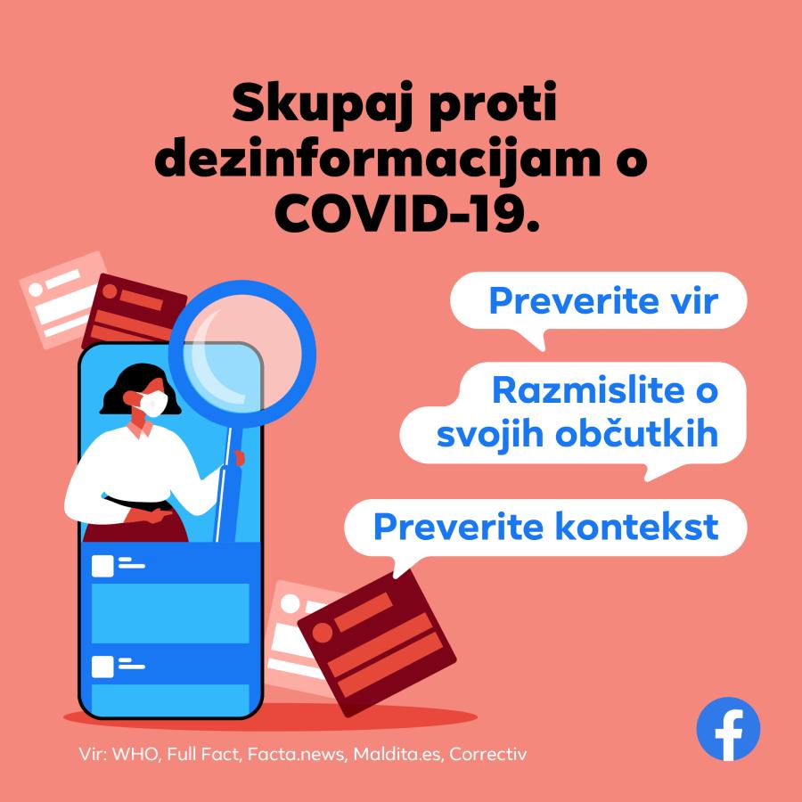 Facebook in Svetovna zdravstvena organizacija skupaj v boju proti lažnim novicam