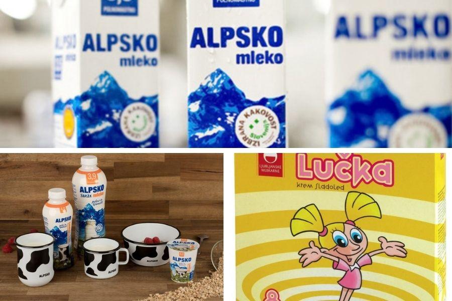 Blagovno znamko Alpsko mleko je imelo v lasti in prvo proizvajalo podjetje Ljubljanske mlekarne. Leta 2013 je podjetje prevzela hrvaška družba Dukat, ki posluje v okviru francoske skupine Lactalis.