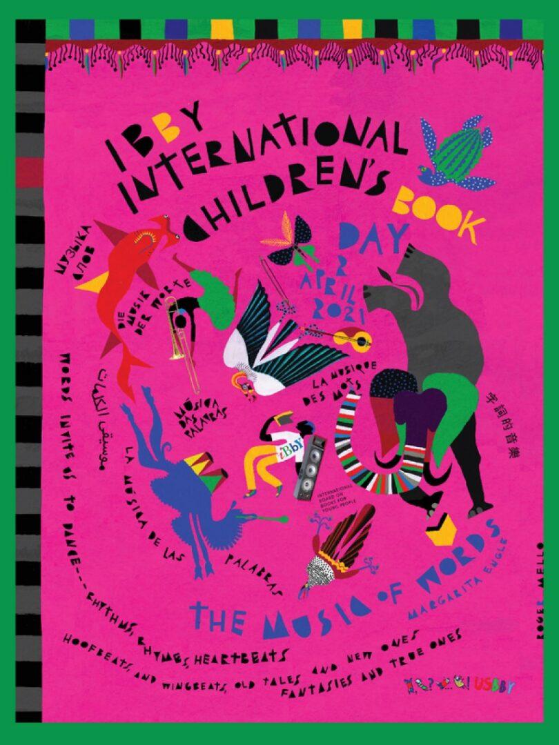 Letošnji plakat svetovnega dne mladinske literature, ki ga je izdelal George Mello.