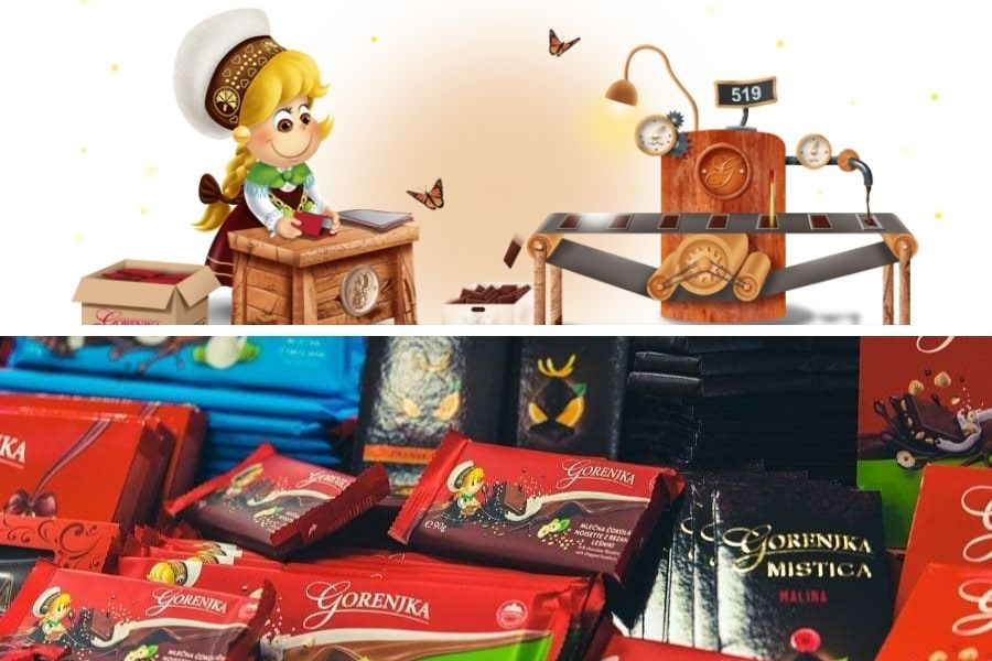 Prvi proizvajalec čokolade Gorenjka, ki jo vsi poznamo po Gorenjkini punčki (ustvaril jo je Miki Muster leta 1985), je bilo podjetje Gorenjka.