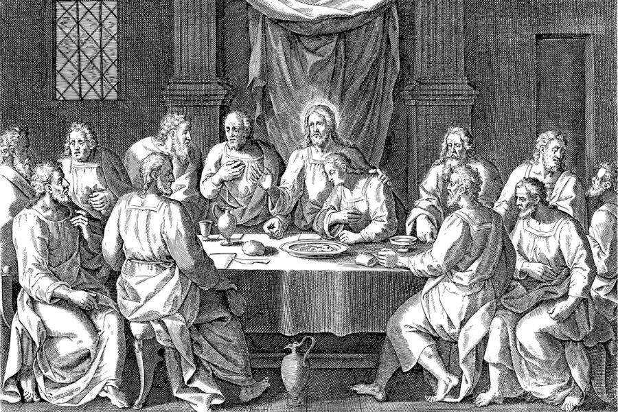 Zadnja večerja imenujemo dogodek, ko je Jezus zadnjikrat večerjal z učenci (apostoli), preden je bil izdan in usmrčen. Vir slike: Pixabay.
