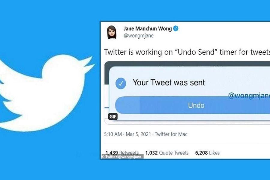 Funkcija Undo Tweet bi omogočala, da bi si lahko uporabnik nekaj sekund po tem, ko tvit napiše, premislil in ga popravil ali odstranil. Vir slike: Thehansindia.