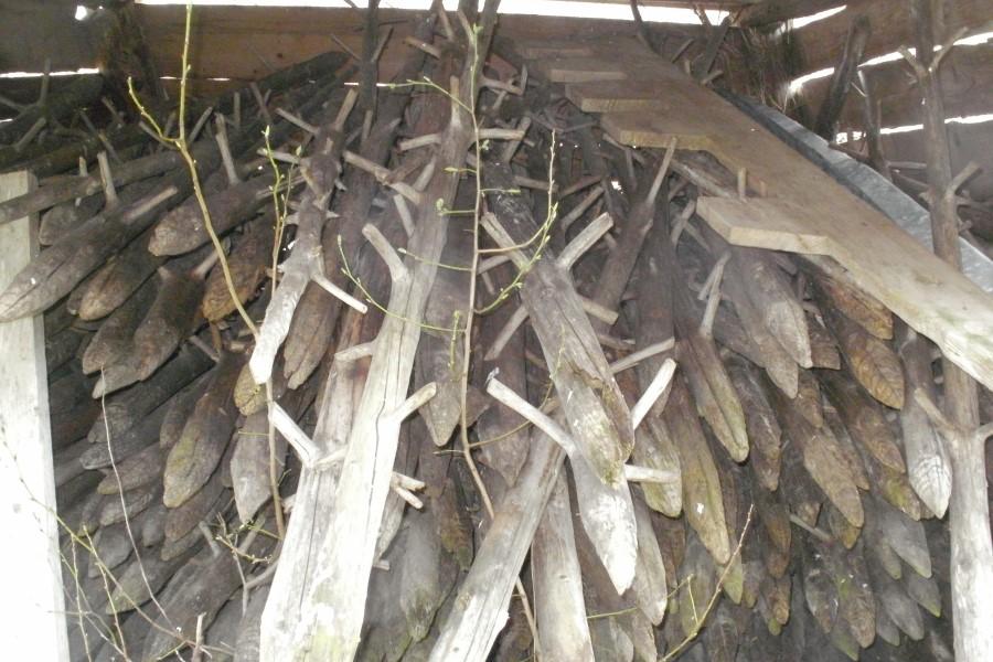 Na ostrgačah so kmetje včasih sušili seno.