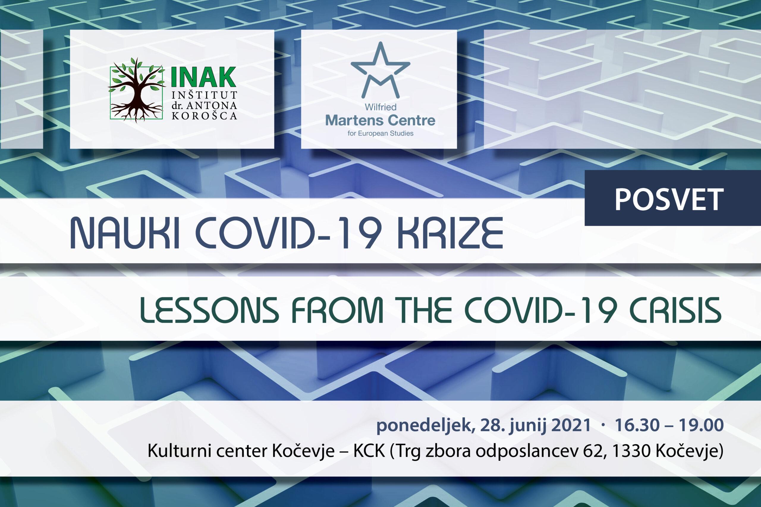 [NAPOVED]: Nauki covid-19 krize