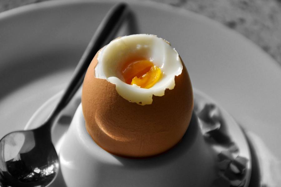 Mehko kuhana jajca.