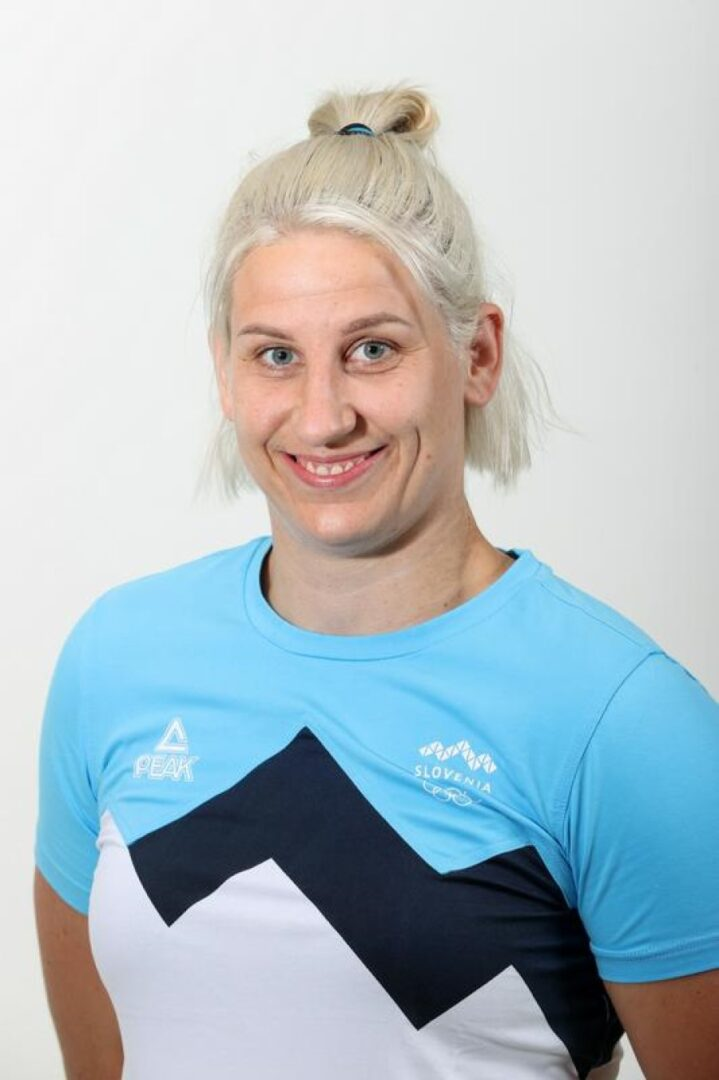 Anamari Klementina Velenšek se je rodila 1991 v Celju. Je članica istega judo kluba kot Tina Trstenjak