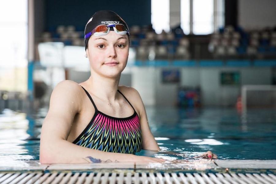 Katja Fain je Kranjčanka, rojena leta 2001, ki se letos prvič udeležuje olimpijskih iger.