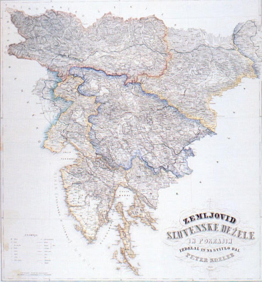 Problem slovenskega sindroma skrbi za lasten ugled ni od včeraj. Verjetno vsi poznamo Kozlerjev zemljevid slovenskih dežel, ki je bil izdan leta 1861.