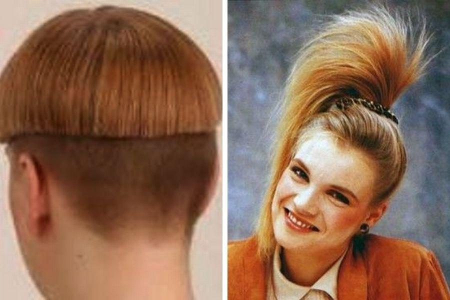 Strešice, čim višje tem boljše, palmice na vrhu glave, visoko natupirane frizure in frufru na tisoč in en način.