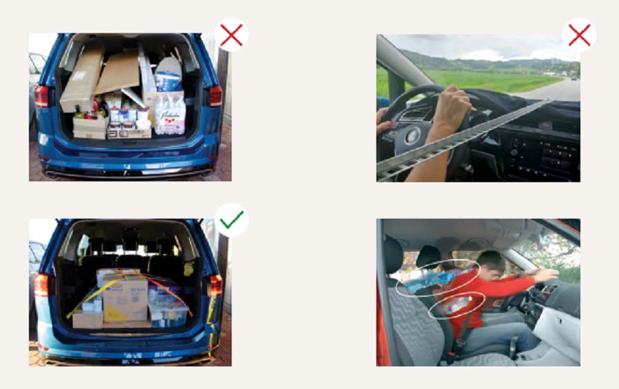 Poskrbite, da bo vsa prtljaga varno odložena, preden se odpravite na pot. Vir slike: Avp-rs.