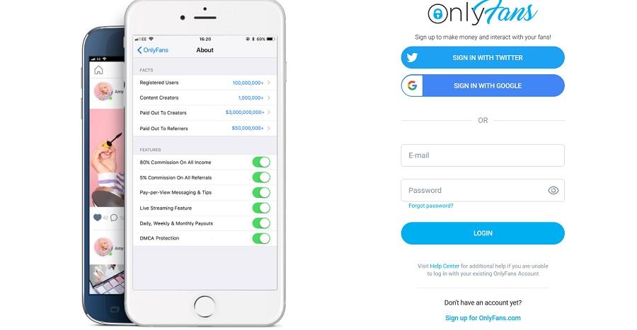 Vse, kar mladoletnik potrebuje za uspešno prijavo na platformo OnlyFans, je lažna identifikacija. Vir slike: Posnetek zaslona Časopis Slovenec.