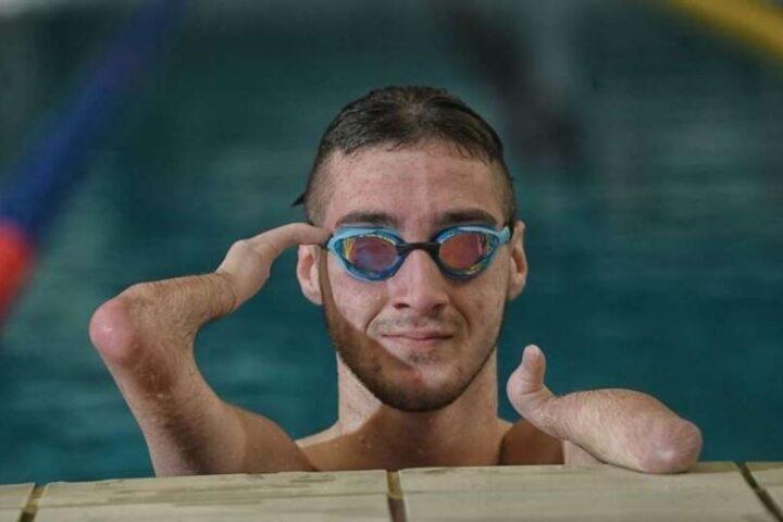 Tim Žnidaršič Svenšek, slovenski paraplavalec, ki bo plaval na paralimpijskih igrah
