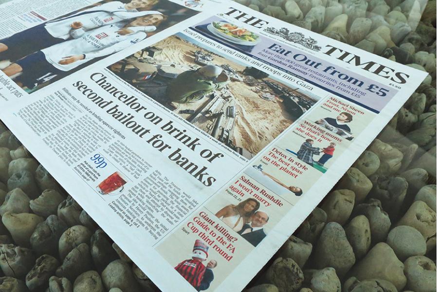 Članek, katerega naslov je vkodiran v blok 0. Vir slike: The times.