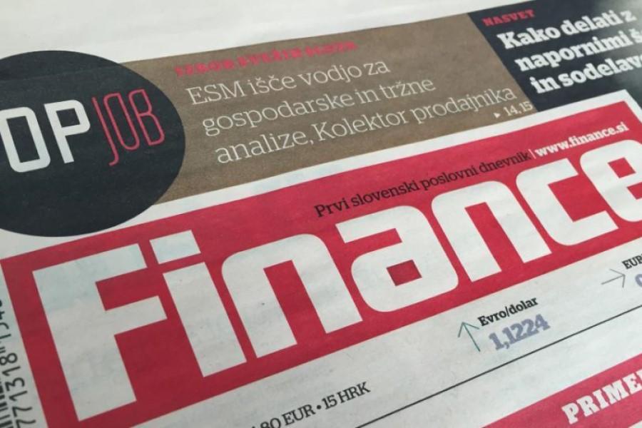 Finance so prvi slovenski poslovni časopis.