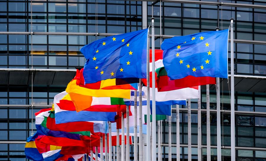 EU ima 24 uradnih jezikov, med katerimi je od leta 2004 tudi slovenščina. Vir slike: EP.