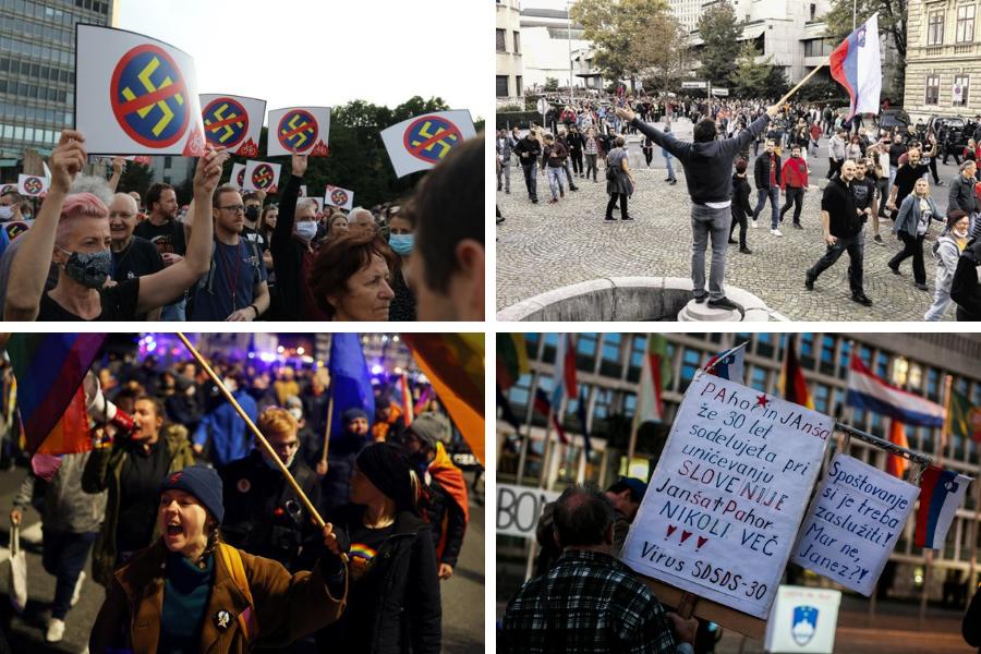 Prejeli smo: Protivladni in anticovid protesti pod črto