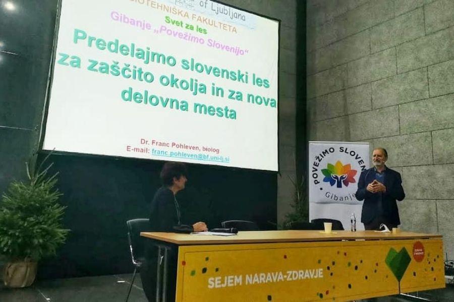 Na sejmu Narava-zdravje prof. dr. Pohleven o predelavi lesa z višjo dodano vrednostjo
