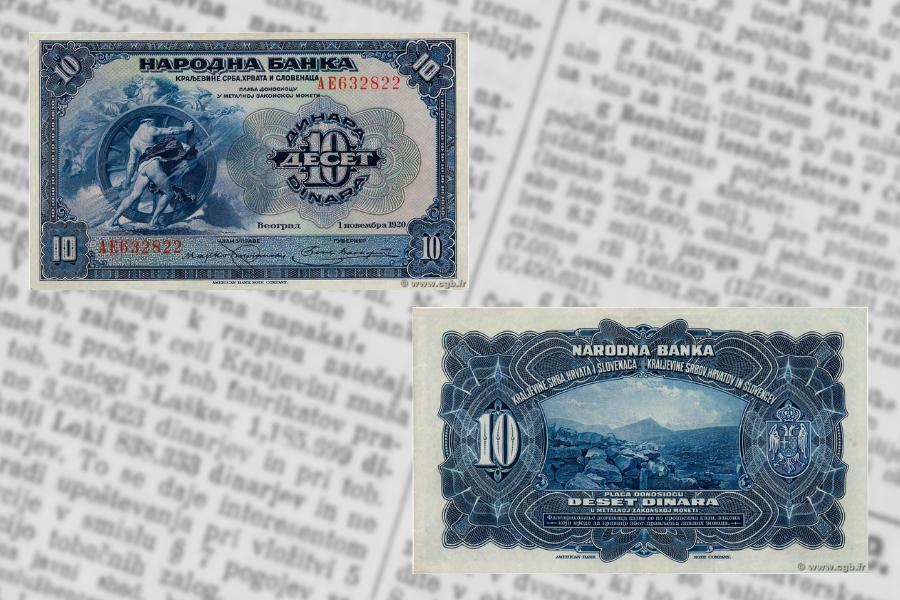 Narodna banka v Beogradu je v tistih dneh izdala nove bankovce za 10 dinarjev. Ljudje so jih v banki prevzeli ob dvigih z računov ali drugih opravkih, vendar so se z njimi kmalu vrnili nazaj, saj so bankovci bili natisnjeni samo na eni strani.