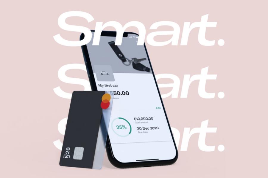 Smart je namenjen uporabnikom, ki se radi poglobijo v vodenje svojega računa ter statistiko porabe in varčevanja denarja. Vir slike: N26.